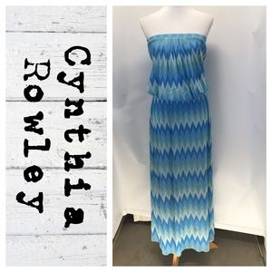 Cynthia Rowley strapless maxi dress